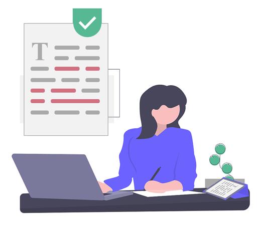 writing correction service illustration
